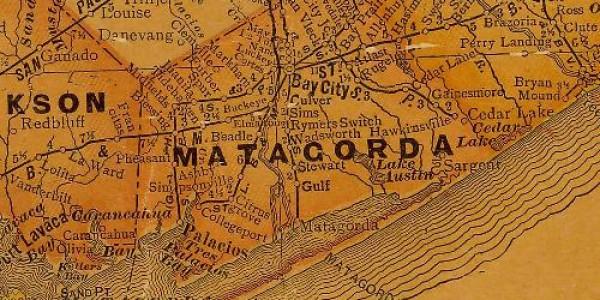1920's Matagorda County Map