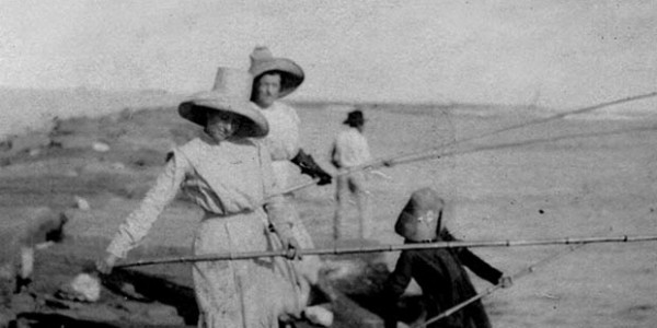 Ladies Fishing on Jetty at Port O'Connor